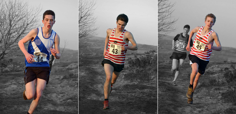 Edan, Max and Jack in full flight @ Bunny Run 3