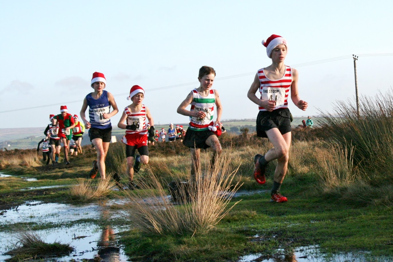 James leading the way from team mate Eilo Beezley